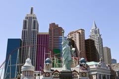 Hotel y casino de Nueva York Nueva York en Las Vegas Imágenes de archivo libres de regalías