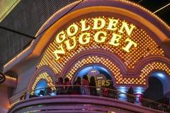 Hotel y casino de oro famosos de la pepita en Las Vegas - LAS VEGAS - NEVADA céntricos - 23 de abril de 2017 fotografía de archivo libre de regalías