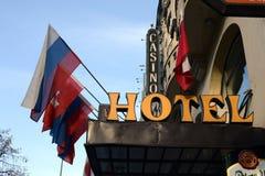 Hotel y casino en el centro de Praga imágenes de archivo libres de regalías