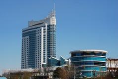 Hotel y casino en Windsor, encendido Imagen de archivo libre de regalías
