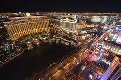 Hotel y casino, la tira, zona metropolitana, característica geográfica, metrópoli, ciudad de Bellagio imagen de archivo