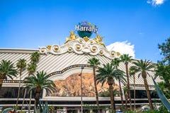 Hotel y casino, Las Vegas de Harrahs Foto de archivo
