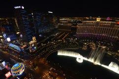Hotel y casino, Las Vegas, zona metropolitana, ciudad, noche, paisaje urbano de Bellagio imagenes de archivo