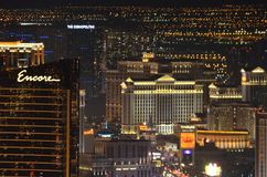 Hotel y casino, Las Vegas, Las Vegas, zona metropolitana, metrópoli, horizonte, paisaje urbano de Bellagio foto de archivo