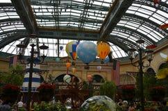Hotel y casino, parque de atracciones, paseo de la diversión, parque, invernadero, cuarto de niños, invernadero de Bellagio Fotos de archivo libres de regalías