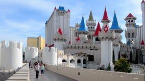 Hotel y casino, tira de Las Vegas, Las Vegas, los E.E.U.U. de Excalibur, almacen de video