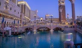 Hotel y casino venecianos hermosos en Las Vegas Imagen de archivo