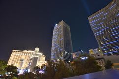 Hotel y casino, zona metropolitana, rascacielos, paisaje urbano, ciudad de París foto de archivo