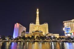 Hotel y casino, zona metropolitana, señal, paisaje urbano, torre de París foto de archivo libre de regalías