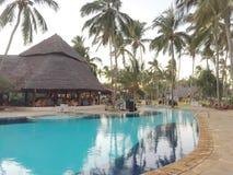 Hotel in Zanzibar. Hotel area in the province of Zanzibar. Pleasure and comfort for travelers Stock Photos