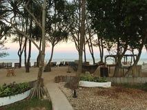 Hotel in Zanzibar. Hotel area in the province of Zanzibar. Pleasure and comfort for travelers Stock Photo
