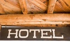 Hotel-Zeichen lizenzfreies stockbild