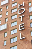 Hotel-Zeichen Stockfotografie