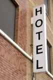 Hotel-Zeichen Stockfoto