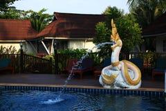 Hotel ziemie, plaża i drzewa, Phra Ae plaża, Ko Lanta, Tajlandia Obraz Royalty Free