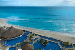 Hotel zone in Cancun, Mexico Stock Photo