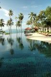 Hotel zwembad Royalty-vrije Stock Afbeelding