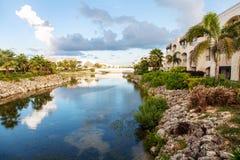 Hotelansicht in Punta Cana, Dominikanische Republik Stockfotografie