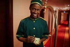 Hotelarbeider stock fotografie