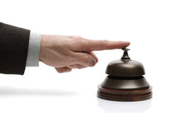 Hotelaufnahmeservice-Glocke Lizenzfreie Stockfotos