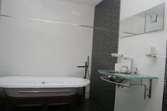Hotelbadezimmer Stockfoto