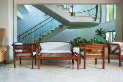 Hotelbinnenland Royalty-vrije Stock Foto's