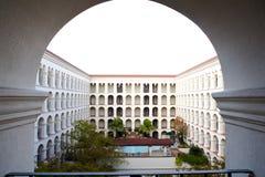 Hotelbinnenplaats - Austin, Texas Stock Fotografie