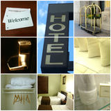 Hotelcollage Stock Fotografie