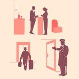 Hoteldienstleistungen aufnahme stock abbildung