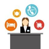 Hoteldienstleistungen und -reise vektor abbildung