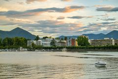 Hotele blisko Lago Maggiore w Locarno, Szwajcaria zdjęcie royalty free