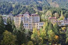 Hotele i budynki mieszkaniowi w Złym Gastein, Austria, Europa fotografia stock