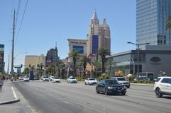 Hotele I sklepy Na Las Vegas pasku Czerwiec 26, 2017 Podróż Holydays Obraz Stock
