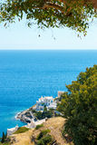 Hotele na dennej stronie na Ios wyspie, Grecja Obrazy Stock