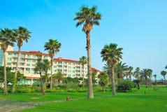 hotele uciekają się tropikalnego zdjęcia stock