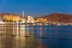 Hotele w Eilat, Izrael Czerwonego morza miejscowość wypoczynkowa Zdjęcia Royalty Free