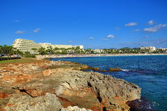 Hotele w Sa śpiączce, Majorca, Hiszpania Fotografia Royalty Free