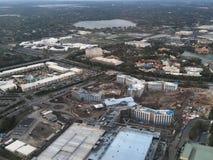 Hoteles céntricos y centros turísticos de la visión aérea fotografía de archivo libre de regalías