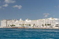 Hoteles de Cozumel Imagen de archivo libre de regalías