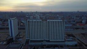 Hoteles de Moscú almacen de metraje de vídeo