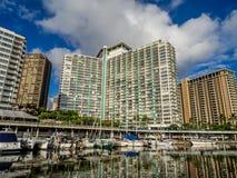 Hoteles de Waikiki fotos de archivo libres de regalías