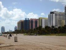 Hoteles del sur de la playa Foto de archivo libre de regalías