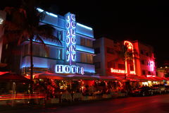 Hoteles del sur de Miami de la playa Fotos de archivo libres de regalías