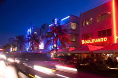 Hoteles del sur editoriales de Miami de la playa Foto de archivo