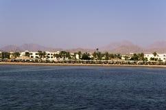Hoteles en la costa de Mar Rojo Imagen de archivo