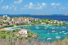 Hoteles en la isla del St Joan Imagenes de archivo