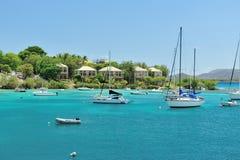 Hoteles en la isla del St Joan Fotografía de archivo