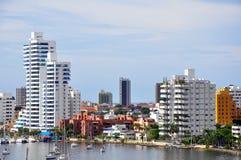 Hoteles en lugar de la cara de mar Imagen de archivo libre de regalías