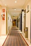 Hotelflur Stockfoto