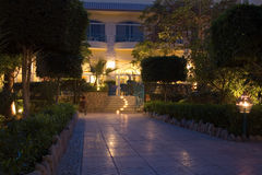 Hotelgarten Lizenzfreies Stockfoto